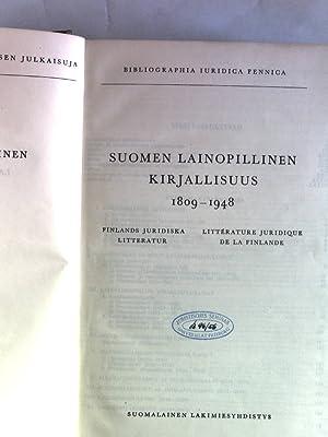 Suomen Lainopillinen Kirjallisuus I: 1809-1948. Suomalaisen Lakimiesyhdistyksen Julkaisuja, C-Sarja...
