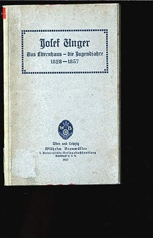 Josef Unger. Das Elternhaus - die Jugendjahre: Frankfurter, Salomon: