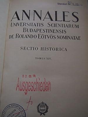 Annales Universitatis Scientiarum Budapestinensis de Rolando Eötvös nominatae. Sectio ...