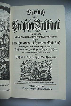 Versuch einer critischen Dichtkunst.: Gottsched, Johann Christoph: