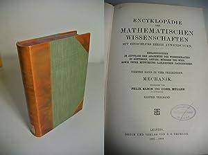 Encyklopädie der Mathematischen Wissenschaften. Mit Einschluß ihrer Anwendungen. Vierter...
