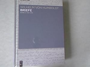 Wilhelm von Humboldt, Briefe 1781-1791.: Mattson, Philip: