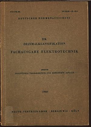 DK - Dezimalklassifikation. Fachausgabe Elektrotechnik.
