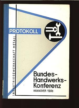 Protokoll, 2. Bundes-Handwerks-Konferenz der Industriegewerkschaft Metall für die ...