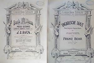 Bach-Album. Pieces celebres. Gavottes, Bourrees, Gigues etc. de J. S. Bach. Revues, doigtees et ...