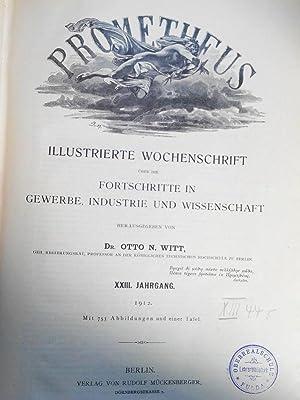 PROMETHEUS. XXIII. Jahrgang. 1912. In einem Band. Mit Beiblatt zum Prometheus (Nr. 1145 bis Nr. ...