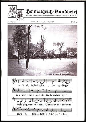 Schwarze Balken im Kalender, in: HEIMATGRUß-RUNDBRIEF, Oktober-November-Dezember: Arnswalder Heimatkreis [Hrsg.]: