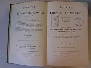 Handbuch der physiologie des menschen. Physiologie der atmung, des kreislaufs und des stoffwechsels...