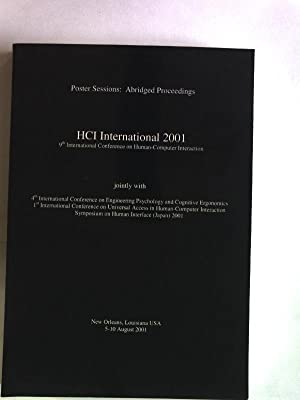 HCI International 2001. 9th International Conference on Human-Computer Interaction. New Orleans, 5-...