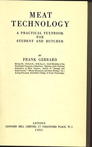 Meat Technology. A practical Textbook for Student: Gerrard, Frank: