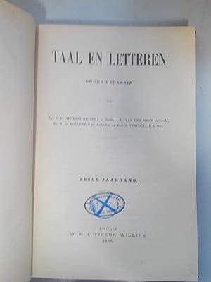 Taal en Letteren. 6e Jaargang (1896). RARE!: Buitenrust Hettema, F. [ed.], J. H. [ed.] van den ...