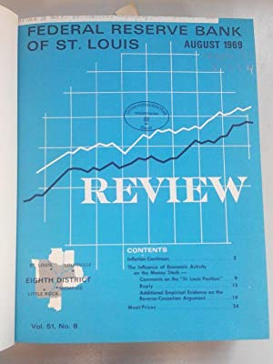 Federal Reserve Bank of St. Louis Review. Volumes 51 to 54 (1969 - 1972). 48 issues in one book. ...