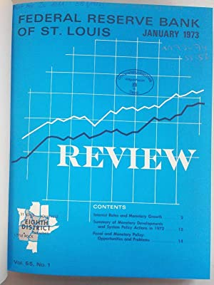Federal Reserve Bank of St. Louis Review. Volumes 55 to 56 (1973 - 1974). 24 issues in one book. ...