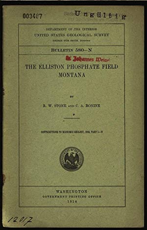 The elliston phosphate field montana. Department of the interior united states geological survey, ...