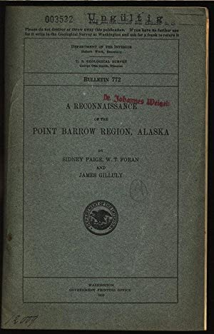 A Reconnaissance of the point barrow region, Alaska. Department of the interior united states ...