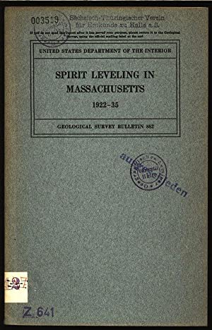 Spirit leveling in massachusetts 1922-35. Department of the interior united states geological ...
