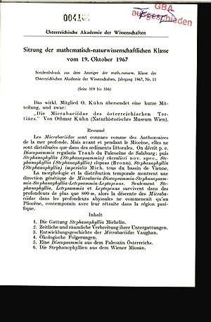 Sitzung der mathematisch-naturwissenschaftlichen Klasse vom 19. Oktober 1967. Sonderabdruck aus dem...