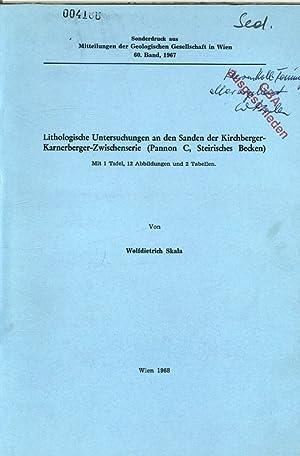 Lithologische Untersuchungen an den Sanden der Kirchberger-Karnerberger-Zwischenserie (Pannon C, ...
