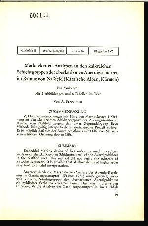 Markovketten-Analysen an den kalkreichen Schichtgruppen der oberkarbonen Auernigschichten im R&auml...