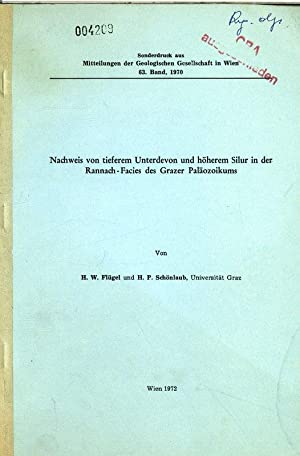 Nachweis von tieferem Unterdevon und höherem Silur in der Rannach-Facies des Grazer Palä...