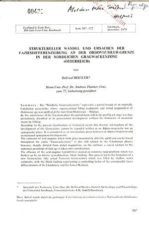 STRUKTURELLER WANDEL UND URSACHEN DER FAZIESDIFFERENZIERUNG AN DER ORDOVIZ/SILUR-GRENZE IN DER...