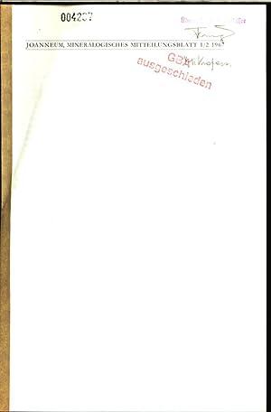 JOANNEUM, MINERALOGISCHES MITTEILUNGSBLATT 1/2 1967.