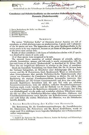 Conodonten und Holothuriensklerite aus den norischen Hallstätter-Kalken von Hernstein (Nieder&...