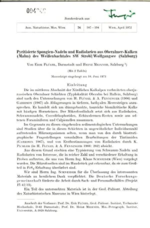 Pyritisierte Spongien-Nadeln und Radiolarien aus Oberalmer-Kalken (Malm) dos Weißenbachtales ...