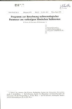 Programm zur Berechnung sedimentologischer Parameter aus verfestigten klastischen Sedimenten. Verh....