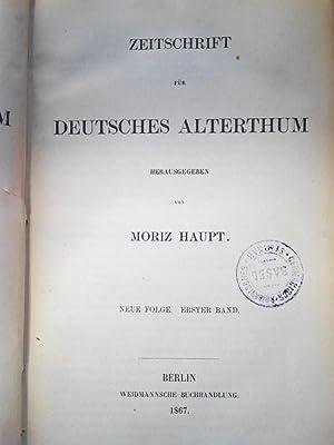 Zeitschrift für deutsches Alterthum. Neue Folge. 1. Band. 13. Band, Komplett.: Haupt, Moriz [...