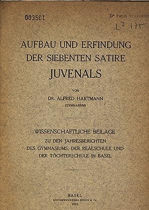 Aufbau und Erfindung der siebenten Satire Juvenals.: Hartmann, Alfred: