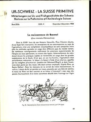 La moissonneuse de Buzenol (Eine römische Mähmaschine), in: UR-SCHWEIZ, Nr. 4, Dez. 1958....