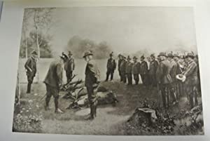 Besichtigung der Strecke durch den Kaiser und den König Eduard nach einer Jagd in der Lobau, ...