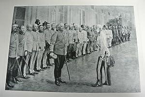 Huldigung der Inhaber-Regimentsdeputationen zum sechzigjährigen Regierungsjubiläum, am 30...