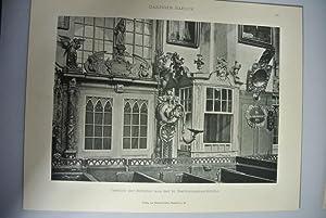 Gestühl der Böttcher au der St. Bartholomäus-Kirche. (Tafel 18). aus: DANZIGER ...