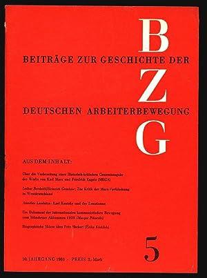 Karl Kautsky und der Zentrismus, in: BEITRÄGE ZUR GESCHICHTE DER ARBEITERBEWEGUNG, 5/1968...