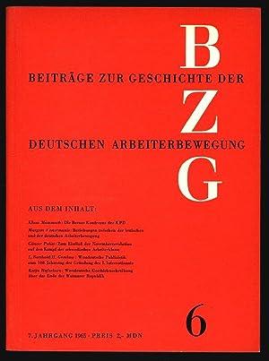 Die Berner Konferenz der KPD, in: BEITRÄGE ZUR GESCHICHTE DER ARBEITERBEWEGUNG, 6/1965.