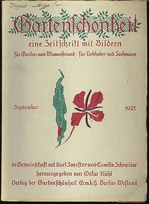 GARTENSCHÖNHEIT, September 1925. Eine Zeitschrift mit Bildern, für Garten- und ...