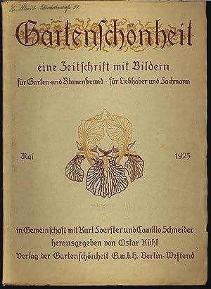 GARTENSCHÖNHEIT, Mai 1925. Eine Zeitschrift mit Bildern, für Garten- und Blumenfreund, f&...