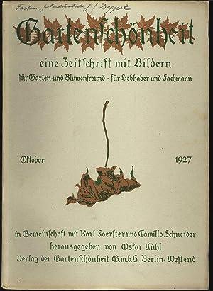 GARTENSCHÖNHEIT, Oktober 1927. Eine Zeitschrift mit Bildern, für Garten- und Blumenfreund...