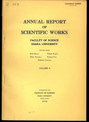 Report from Department of Mathematics, in: ANNUAL REPORT OF SCIENTIFIC WORKS, Volume 4.