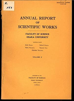 Some Experiments of Artificial Rain-Making, in: ANNUAL REPORT OF SCIENTIFIC WORKS, Volume 2.