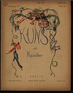 Schloß Sanssouci, in: KUNST UND KÜNSTLER, Heft XI, (August 1921). Monatsschrift für...