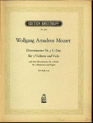 Divertimento Nr. 3, C-Dur, für zwei Violinen: Mozart, Wolfgang Amadeus: