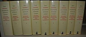 Allgemeines Künstlerlexikon. Bio-bibliographischer Index nach Berufen. Bände 1-9 (von 12)...