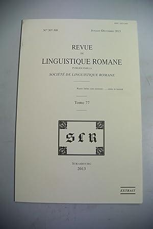 La Metaphonie Romane Occidentale. Separatum taken from: Barbato, Marcello:
