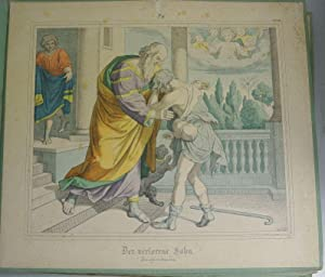 DER VERLORENE SOHN. Kolorierte Bildtafel Nr. 28, aus: Bilder-Bibel. Vierzig kolorierte ...