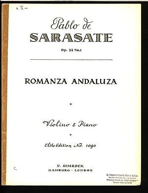 Romanza Andaluza. Violino und Piano. (Elite Edition