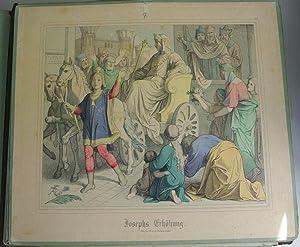 JOSEPHS ERHÖHUNG. Kolorierte Bildtafel Nr. 7, aus: Bilder-Bibel. Vierzig kolorierte ...