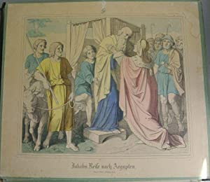 JAKOBS REISE NACH AEGYPTEN. Kolorierte Bildtafel Nr. 9, aus: Bilder-Bibel. Vierzig kolorierte ...